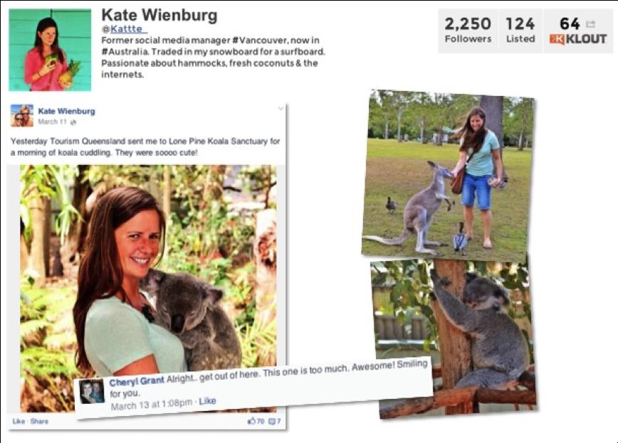 Kate the koala cuddler.