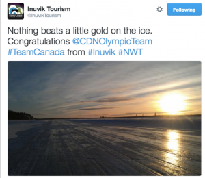 A little gold on ice in Inuvik