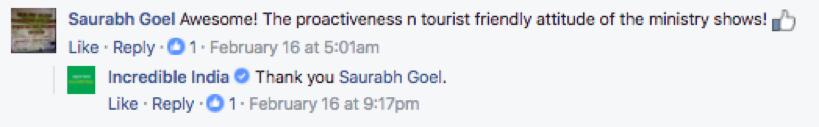 India Facebook comment