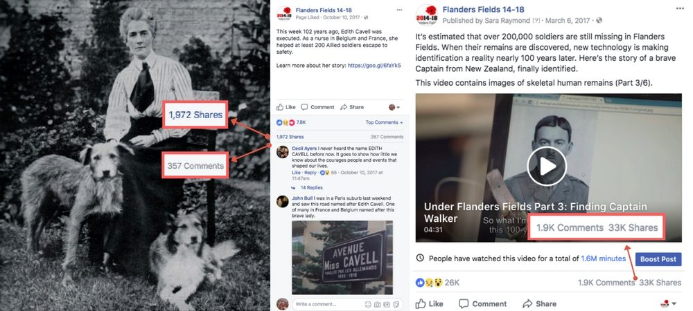 Word of mouth on the Flanders Fields 1914-18 Facebook page