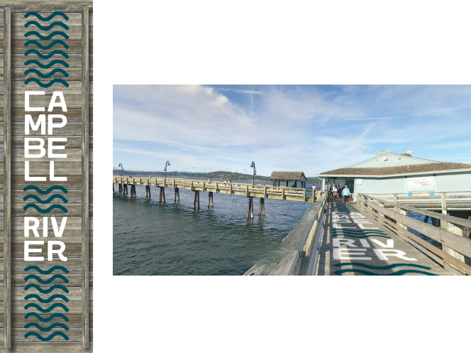Campbell River pier concept branding