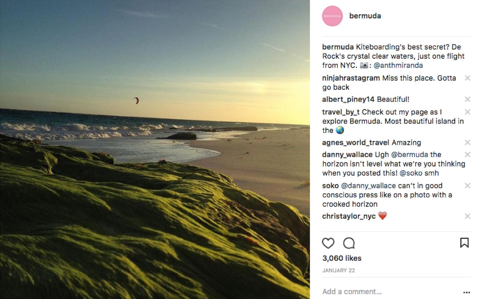 Bermuda kiteboarding Instagram