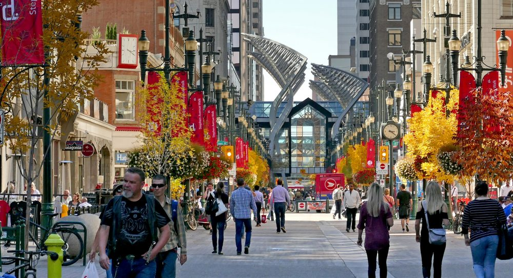 Stephen Avenue in Calgary, Alberta