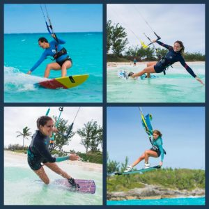 Four kiteboarders in Bermuda