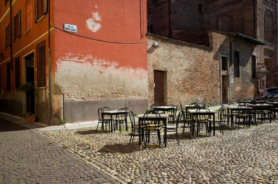 Empty piazza in Italy