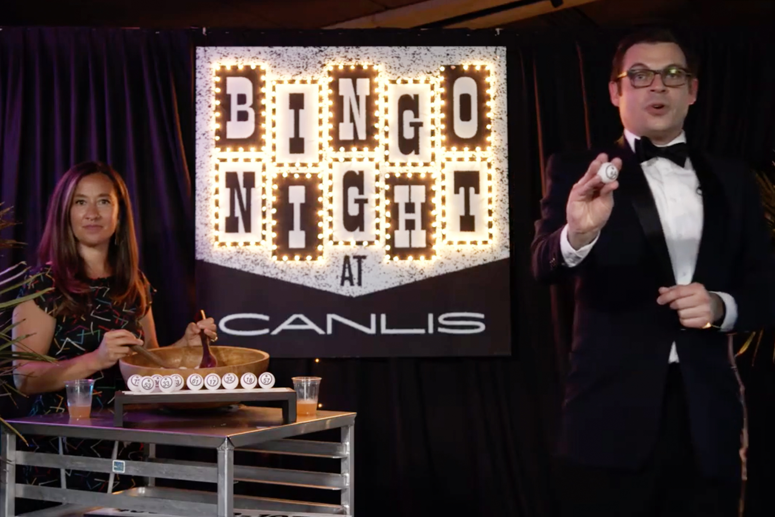 Canlis bingo night