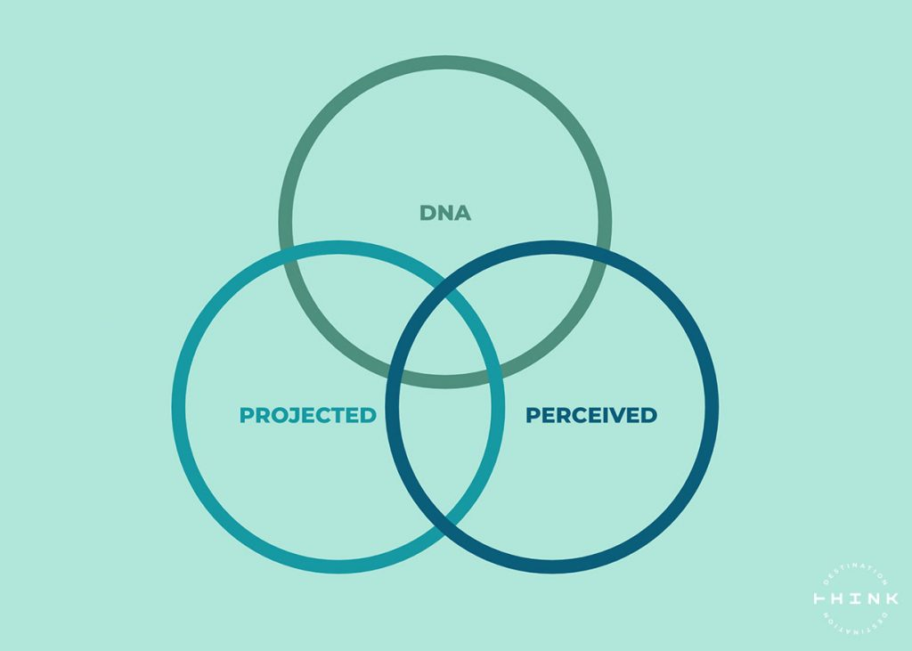 Diagram of DNA, perceived and projected